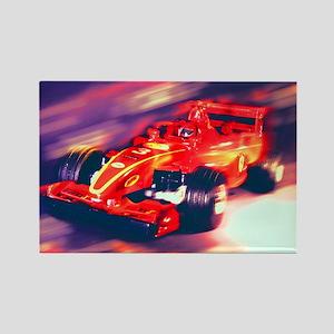 F1 Racer Rectangle Magnet