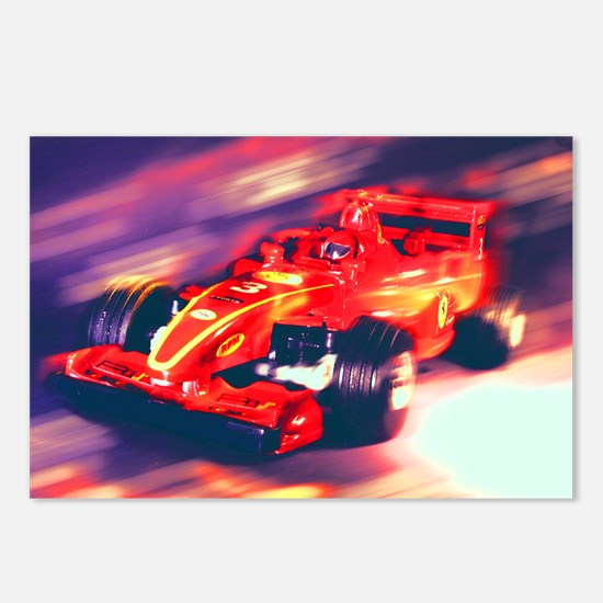 F1 Racer Postcards (Package of 8)