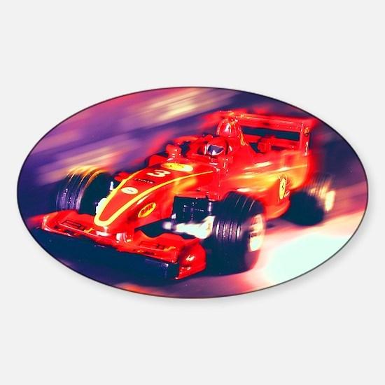 F1 Racer Sticker (Oval)