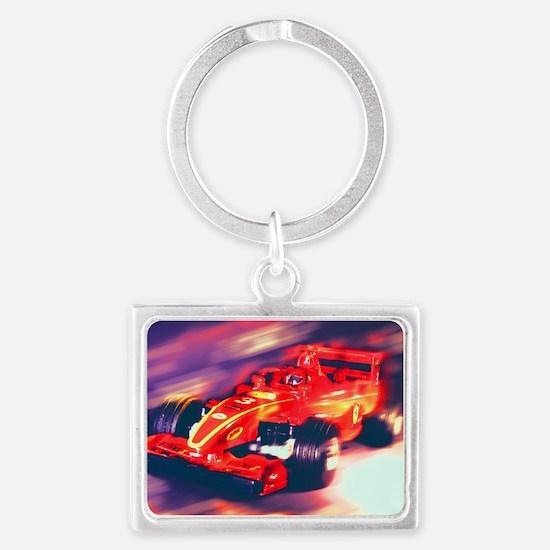 F1 Racer Landscape Keychain