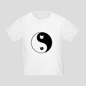 yin yang meow Toddler T-Shirt
