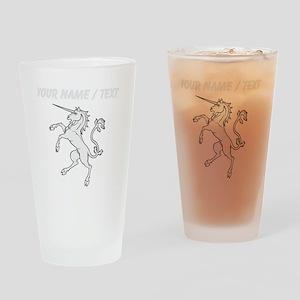 Custom Unicorn Statue Drinking Glass