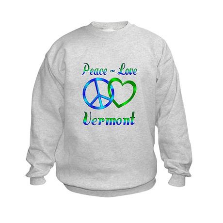 Peace Love Vermont Kids Sweatshirt