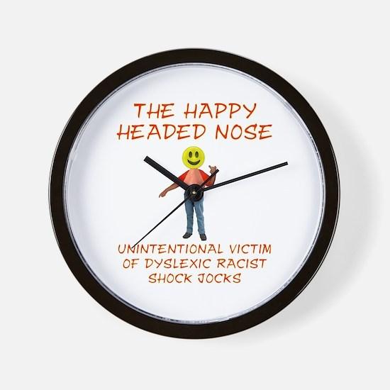 Happy Headed Nose Wall Clock