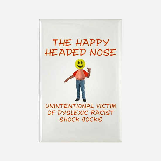 Happy Headed Nose Rectangle Magnet