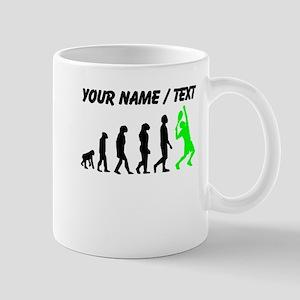 Custom Tennis Evolution (Green) Mugs