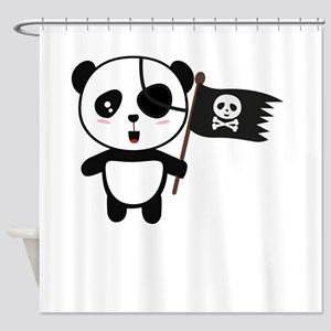 Brave like a Panda Shower Curtain