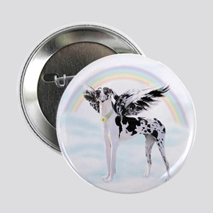 "Harlequin Great Dane Angel RB 2.25"" Button"