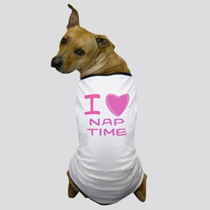 Pink I Heart (Love) Nap Time Dog T-Shirt