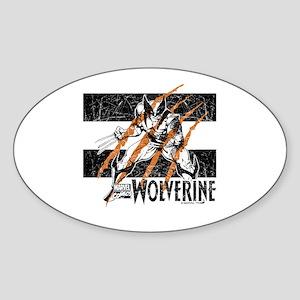 Wolverine Scratch Sticker (Oval)