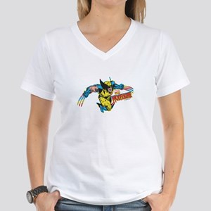 Wolverine Attack Women's V-Neck T-Shirt