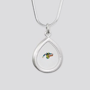 Wolverine Attack Silver Teardrop Necklace