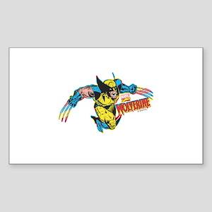 Wolverine Attack Sticker (Rectangle)
