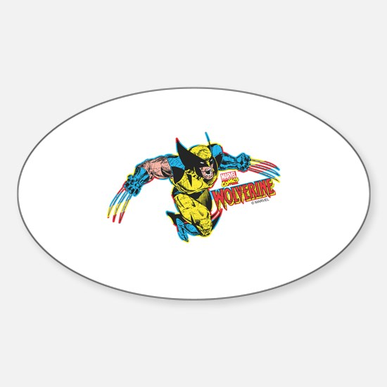 Wolverine Attack Sticker (Oval)