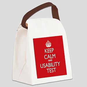 KEEP CALM and USABILITY TEST Canvas Lunch Bag