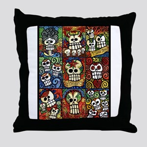 Day of the Dead Sugar Skulls Collection Throw Pill