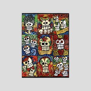 Day Of The Dead Sugar Skulls 5'x7'area Rug