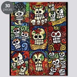 Day Of The Dead Sugar Skulls Collection Puzzle