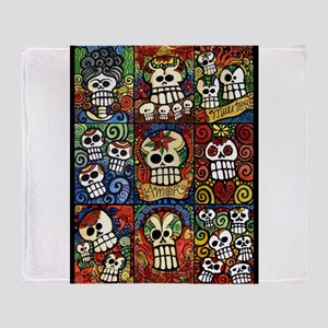 Day of the Dead Sugar Skulls Collection Throw Blan