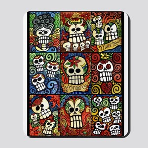 Day Of The Dead Sugar Skulls Collection Mousepad