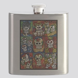 Day of the Dead Sugar Skulls Collection Flask