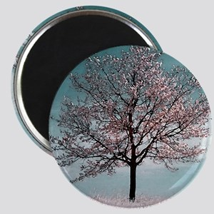 Pink Cherry Blossom Tree Magnet