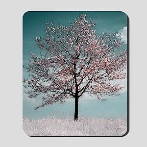 Pink Cherry Blossom Tree Mousepad