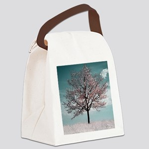 Pink Cherry Blossom Tree Canvas Lunch Bag