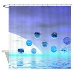 Moonlight Wonder Abstract Shower Curtain