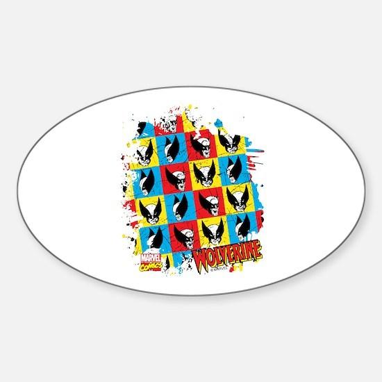 Wolverine Collage Sticker (Oval)