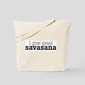 I Give Great Savasana Tote Bag