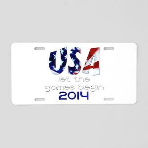 USA Winter Games 2014 Aluminum License Plate