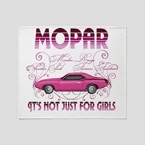 Mopar - Its Not Just For Girls Throw Blanket