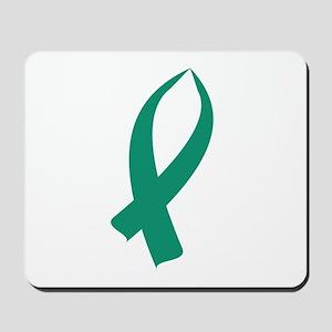 Awareness Ribbon (Teal) Mousepad