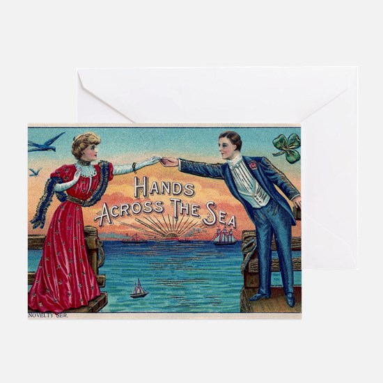 Hands Across The Sea Greeting Card