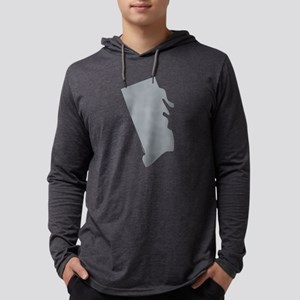 Rhodes Island State Shape Mens Hooded Shirt