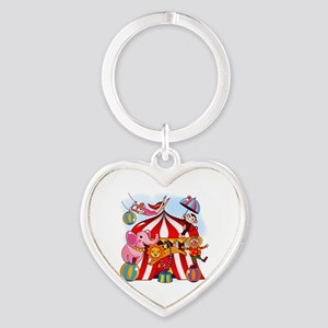 The Circus is in Town Heart Keychain