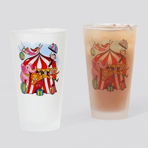 The Circus is in Town Drinking Glass