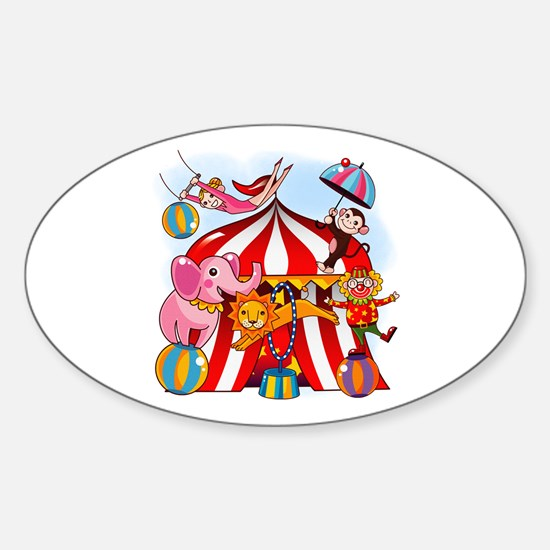 The Circus is in Town Sticker (Oval)