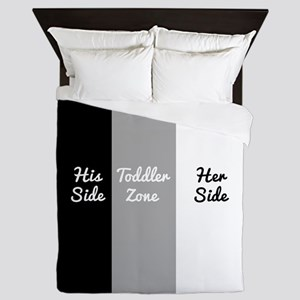 His Side Toddler Zone Her Side Queen Duvet
