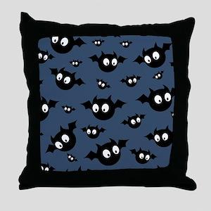 Cute Bat Pattern Throw Pillow