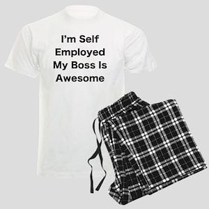 Im Self Employed My Boss Is A Men's Light Pajamas