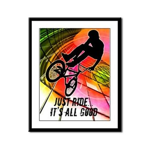 BMX in Lines and Circles Its All Good Framed Panel