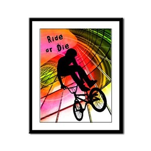 BMX in Lines and Circles Ride or Die Framed Panel