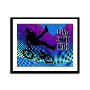BMX Fractal Movie Marquee Live Love Ride Framed Pa