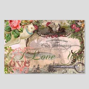 Marriage Collage Vintage Wedding Fl Postcards