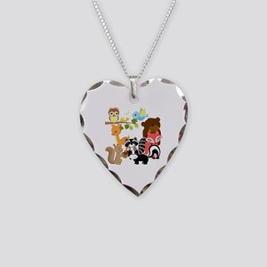 Forest Friends Necklace Heart Charm