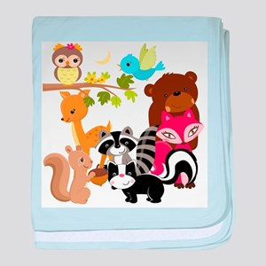 Forest Friends baby blanket