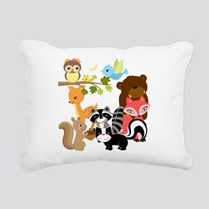 Forest Friends Rectangular Canvas Pillow