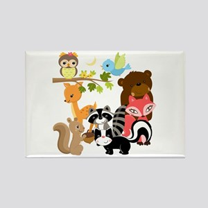 Forest Friends Rectangle Magnet